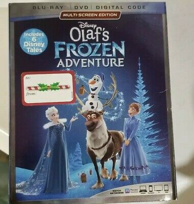 Disney Olaf's Frozen Adventure(Blu-Ray+Dvd+Digital Code)W/Slipcover New