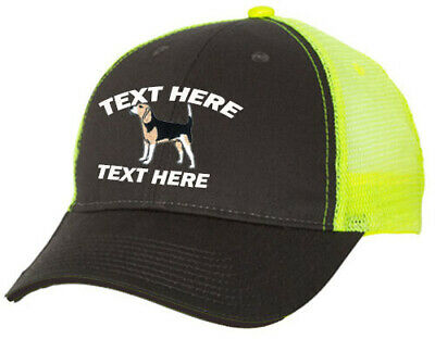 5000b16057be0 Cap Hat Embroidered Gray Neon Yellow Mesh Personalized Hound Dog Rabbit  Beagle2
