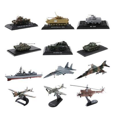 1/72 Military Tank Aircraft Armoured Vehicle Diecast Model Army Jet Airplane Toy