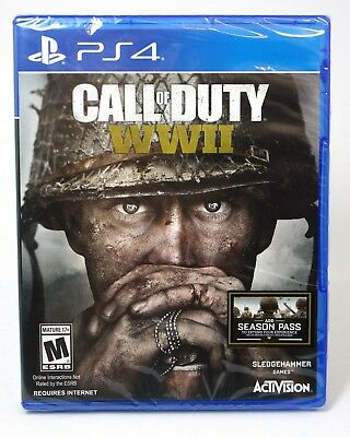 Call of Duty: WWII PS4. *NEW*FACTORY SEALED (Sony PlayStation 4, 2017)