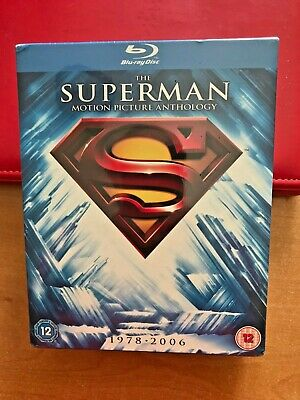 The Superman Motion Picture Anthology 1978-2006 (Blu-ray Disc, 2011, 8-Disc...