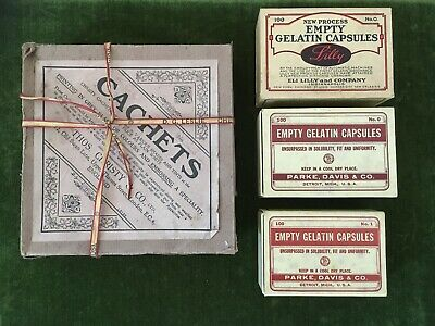 Vintage 4  Chemist Boxes Some With Contents