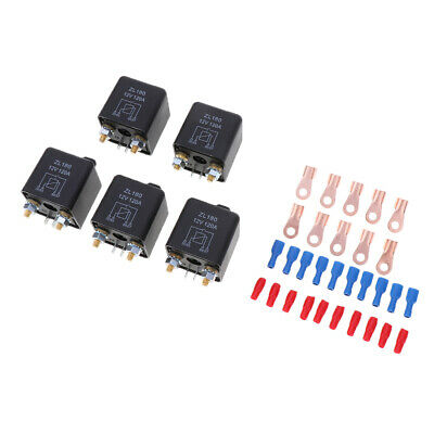 5x 120A 4-Pin Car Relay Switch Automotive Changeover Relay 12V for Winch RV