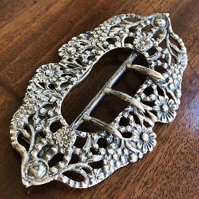 A Silver Buckle In Style Of A Georgian Cut Steel Buckle. William Comyns, c.1900.