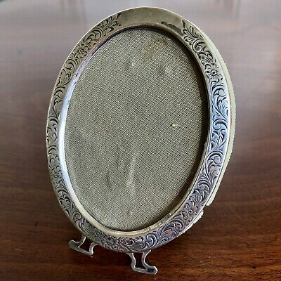 A Sweet Small American Silver Oval Photograph Frame, c.1900, 10cm High.
