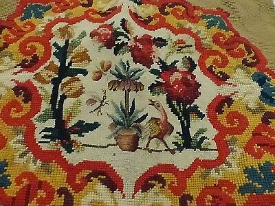 Antique French Bird, Foliage, Butterfly Tapestry