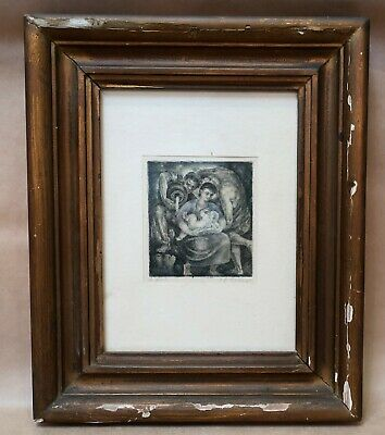 Beautiful Framed Original Artwork Pencil & Ink French Deceased Estate