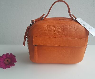 a3f219e4caf38d Umhängetasche Crossbody edles Leder High Garden Made in Italy Ledertasche  Orange