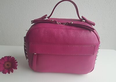 2fcc41207fa9aa Umhängetasche Crossbody edles Leder High Garden Made in Italy Ledertasche  Pink