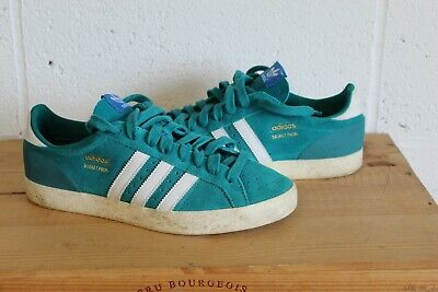 more photos c1c17 c3e19 Turquoise Adidas Originals Basket Profi Gazelle Style Trainers Size 9 2013  Worn