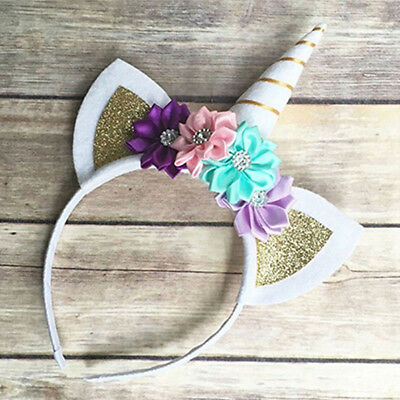 Unicorn Shaped Head Party Kids Hair Headband Fancy Dress Baby Cosplay Decor RU