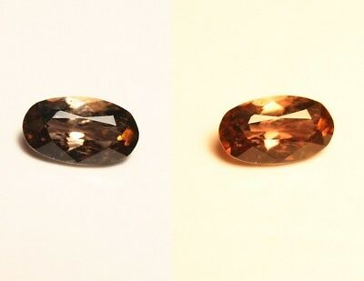 1ct BiColour Axinite - Rare Colour Change Gem - Excellent Clarity - Tanzania