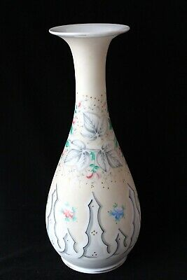 Antique French opaline glass vase 19th century