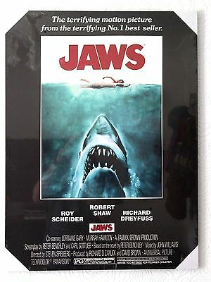 Jaws Movie Poster 1975 Stretched Art Canvas Print. 60cm x 80cm.