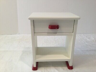 "American Girl 18/"" Doll Addy Washstand Wooden  Night Stand Table Retired EUC PC"