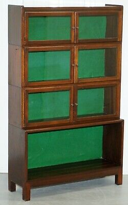 Rare Cira 1930 Mahogany Modular Minty Oxford Antique Stacking Legal Bookcase