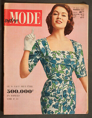 'votre Mode' French Vintage Magazine Summer Issue 17 May 1956