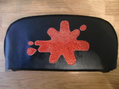 GP Splat black/red metal flake Scooter Back Rest Cover (Purse Style)