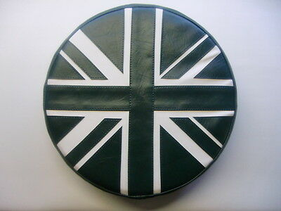 British Racing Green/ Cream Union Jack Scooter Wheel Cover