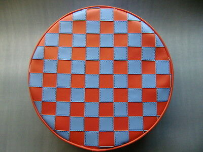 Light Blue/Orange Check Scooter Wheel Cover