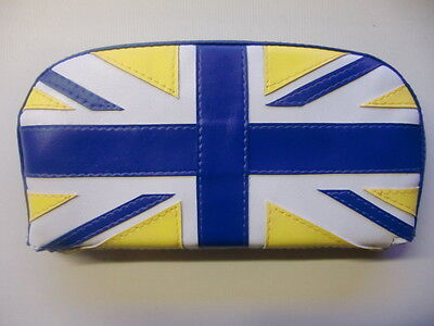 Blue/Yellow/White Union Flag Scooter Back Rest Cover (Purse Style)