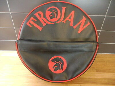 Black/ Red Trojan Pocket Scooter Wheel Cover
