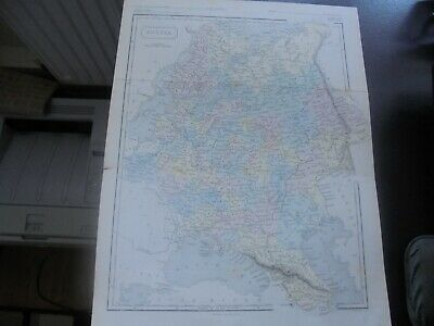c 1860 Russia, Antique Colour Map of Russia engraved by Edward Weller