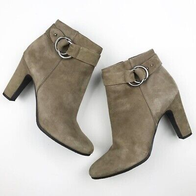 e13a60151620 SAM EDELMAN WINNIE Suede Embroidered Ankle Booties Size 10 Whisky ...