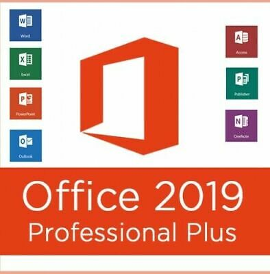 Microsoft Office 2019 Professional Plus - Official Download & Key- 32/64 Bit.