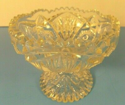 Vtg American Brilliant Small Bowl, Candy Dish~Nuts~Mints~Etc. Heavy, Deeply Cut