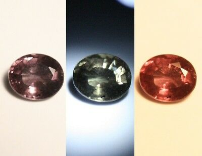 0.57ct Colour Change Garnet - Custom Cut Gem with Rare Superb Colour Change