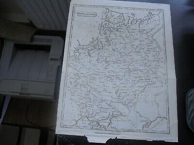 1811 Russia in Europe, Antique Map, Cadell & Davies