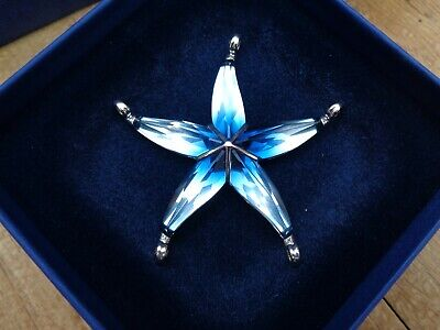 Swarovski Crystal Paradise Cantil Ocean Blue Star Fish/ Retired/ collectable