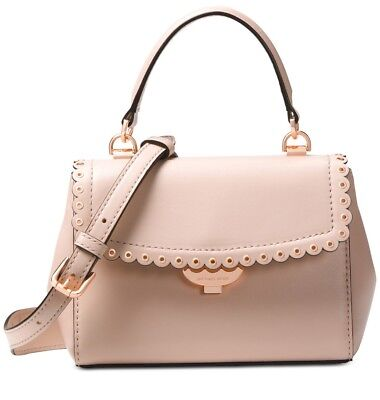56ec6bb60371 Michael Kors Top Hsndle Crossbody Soft Pink  Rose Gold leather small