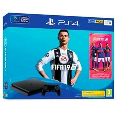 Sony Ps4 Console 1Tb F Chassis Slim Black + Fifa 19