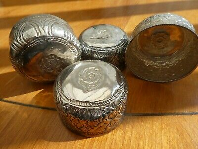 Four Indian Silver Spice Bowls 46.2g total