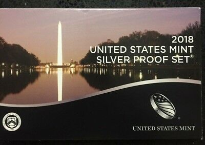 2018 US United States Mint Silver Proof Set 10 Coin w Certificate