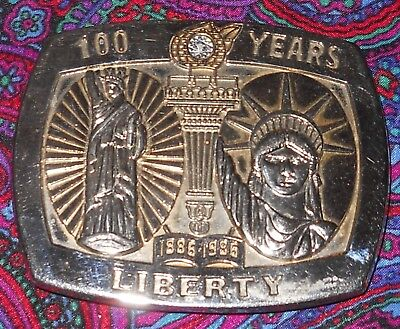 Sterling Statue of Liberty Belt Buckle Sterling