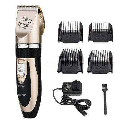 Cordless Electric Pet Cat Dog Hair Trimmer Clipper Shaver Comb Grooming Kit