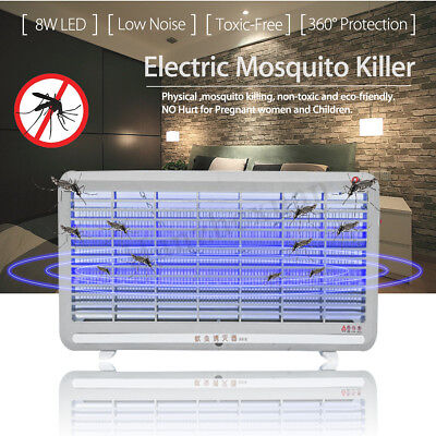 8W Electric LED Mosquito Fly Insect Killer Zapper Lamp Industrial Indoor Bug