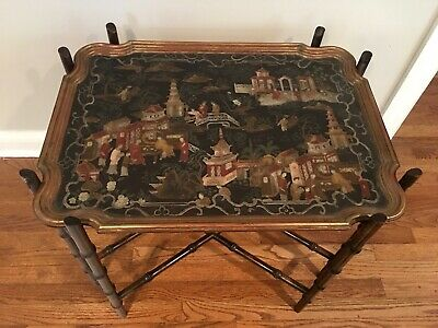 Baker Chinoiserie Faux Bamboo Coffee Table