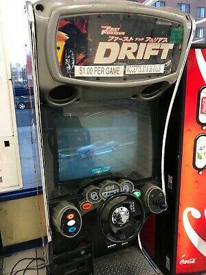 Raw Thrills Fast & Furious Drift Arcade Game (LED MONITOR-GREAT PICTURE)