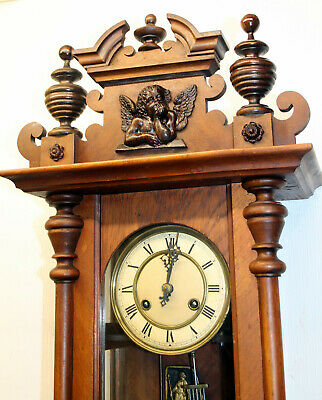 *Antique Little Wall Clock Vienna Regulator 19th century*