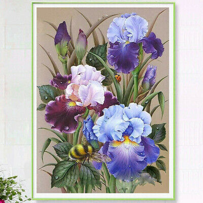 5D Full Drill Flower Bee Diamond Painting Embroidery Cross Stitch Kit Home Decor