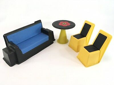 Vintage DOLL HOUSE FURNITURE BARBIE FRANCIE Size Lot MOD Table Chairs Sofa Couch