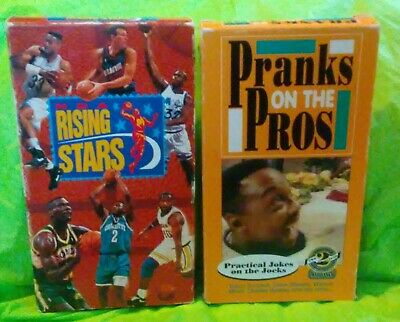 Pranks on the Pros Practical Jokes 1992 AND NBA Rising Stars 1993 VHS Video Tape