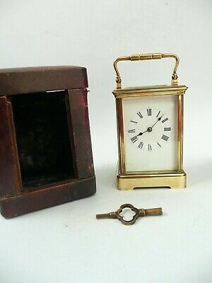 19th century Large Striking Carriage Clock and Case...........ref.1873