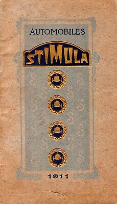 RARE. 1911. CATALOGUE. AUTOMOBILES. STIMULA. SAINT-CHAMOND. Albert ROBIDA .CLUNY