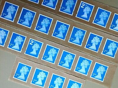 25 X 2Nd Class Unfranked Stamps Self Adhesive Easy Peal F/v £15.25