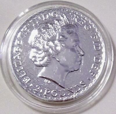 BU, proof like, 2015 BRITISH ROYAL MINT '2 POUNDS' 1 oz .999 SILVER COIN